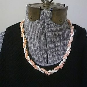 Vintage Mother of Pearl and Shell Necklace